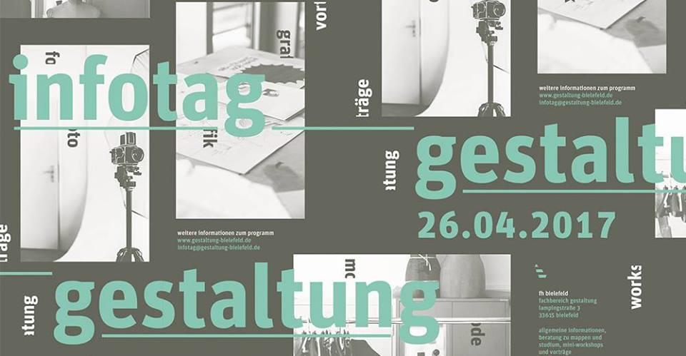 am 26 april findet wieder unser infotag statt erfahrt mehr ber den fachbereich gestaltung und die studienschwerpunkte grafik foto und mode - Fh Bielefeld Bewerbung