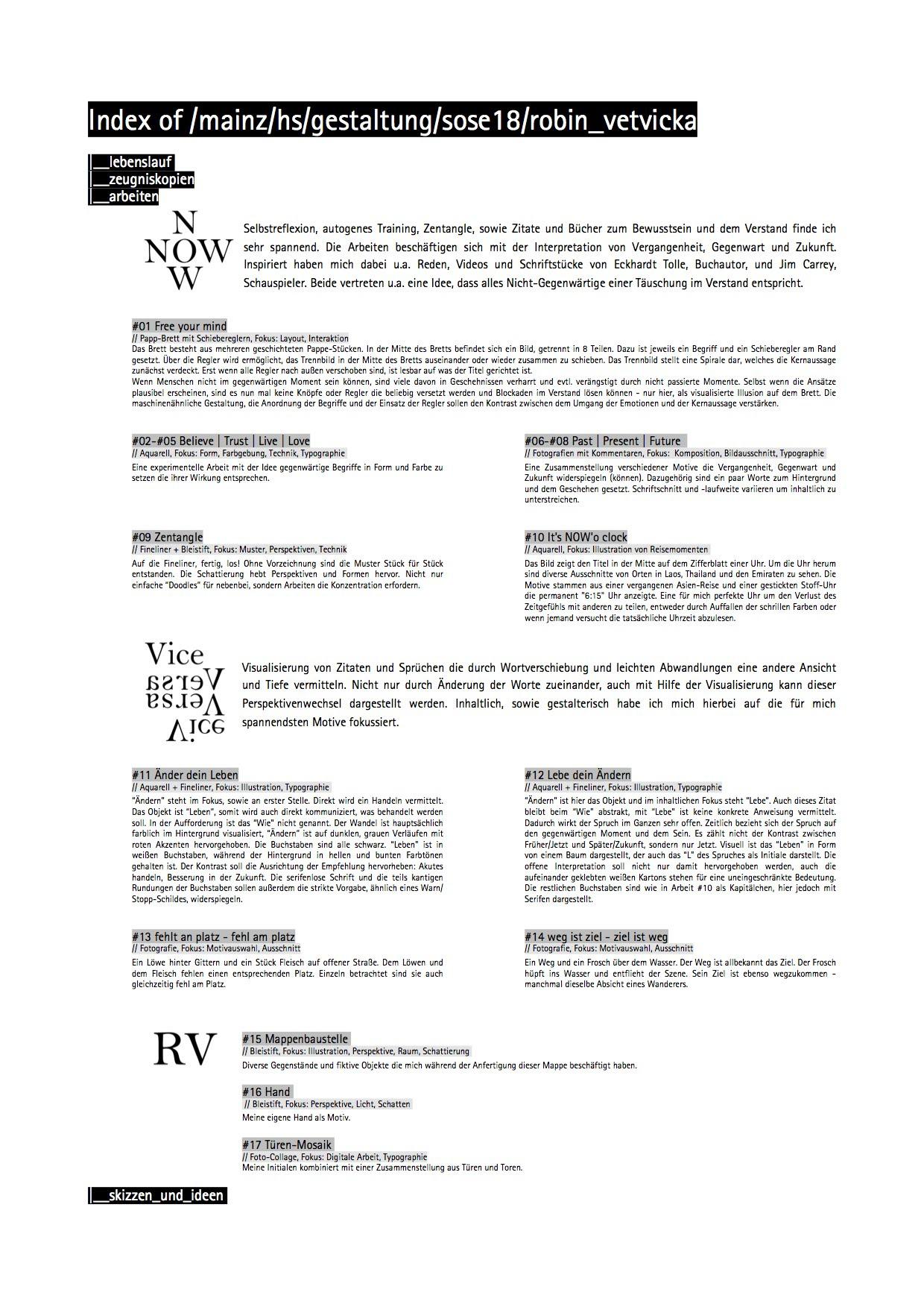 NOW | Vice Versa | RV | precore.net