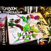 "DE 0:00 / 3:58 Sketchbook Flip Through 2020 + ""Witches Apothecary""-Series"